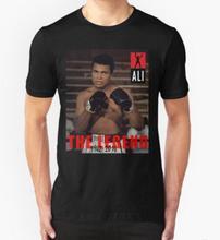 Mens Muhammad Ali New Fashion Men's MMA T-shirts Short Sleeve Cotton t shirts Man Clothing Free Shipping