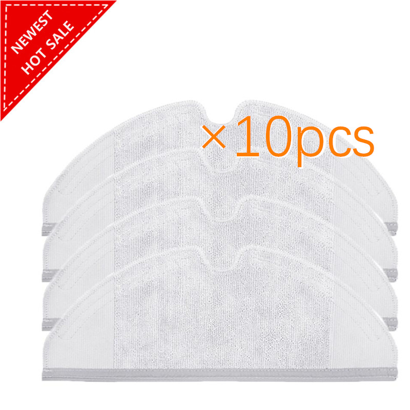 10pcs/lot Mop Cloths Pads Washable Cloth Mopping Pad for Xiaomi Generation 2 Roborock Vacuum Cleaner Spare Parts