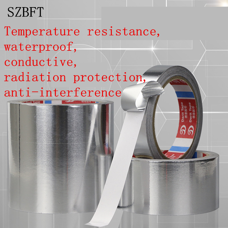 SZBFT Aluminum Foil Tape Shield Waterproof And Radiation Foil Paper Computer Board Circuit Board Welding Insulation