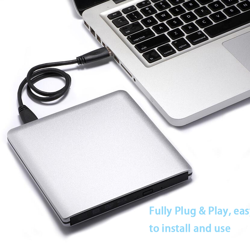 USB 3.0 Bluray Drive External  Optical Drive BD-ROM DVD-ROM 3D Player  CD/DVD RW Burner Read Writer Laptop for Windows 10/7/8 market leader extra elementary coursebook dvd rom
