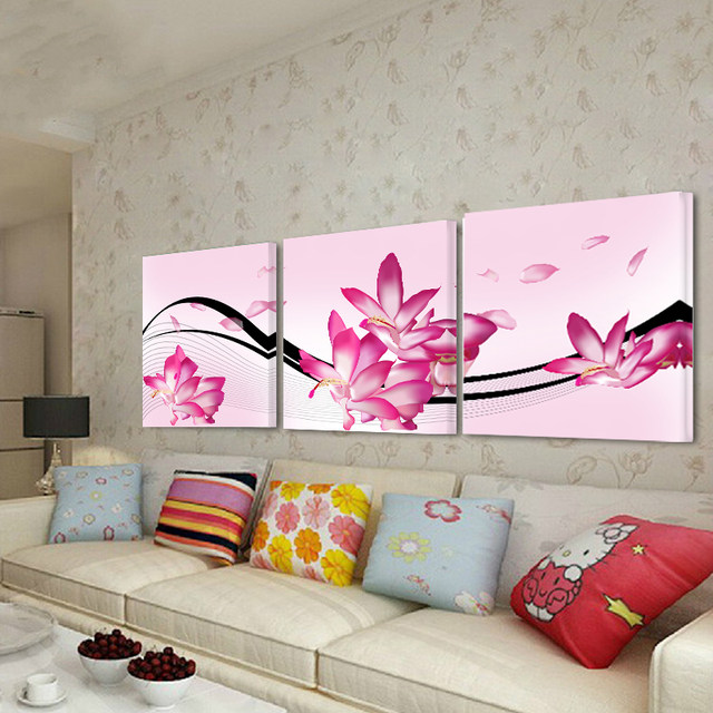 Online Shop Unframed Canvas Painting Posters 3 Pcs Flowers Modern ...