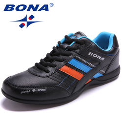 BONA Neue Beliebte Stil Männer Laufschuhe Outdoor Walking Jogging Schuhe Lace Up Turnschuhe Licht Sportschuhe Schnelles Freies Verschiffen