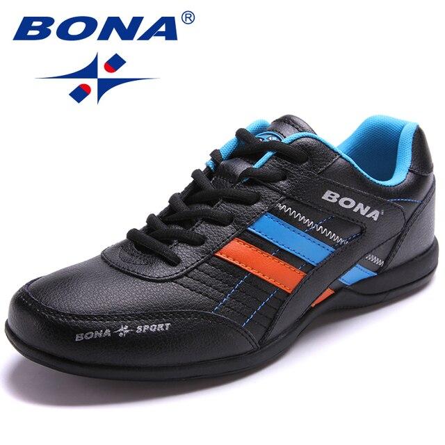 BONA/Новинка; популярные Стильные мужские кроссовки для бега; уличная прогулочная беговая Обувь; кроссовки со шнуровкой; Легкая спортивная обувь; Быстрая бесплатная доставка