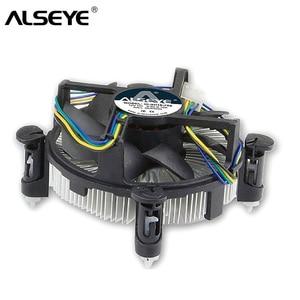 Кулер для процессора ALSEYE, для LGA 1155, теплоотвод, медный, 90 мм, вентилятор для процессора i3/i5/i7 LGA 1156/1151/1150, радиатор