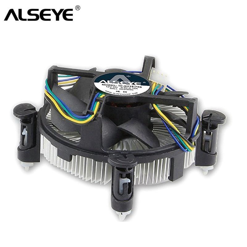 ALSEYE CPU Cooler para LGA 1155 disipador de cobre con 90mm ventilador CPU para i3/i5/i7 LGA 1156/1151/1150 radiador