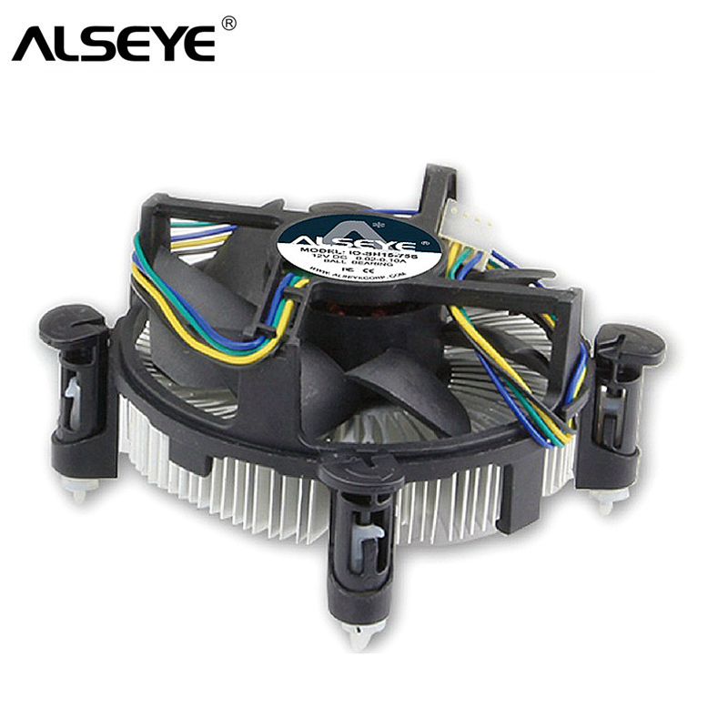 ALSEYE CPU Cooler for <font><b>LGA</b></font> 1155 Heatsink Copper with 90mm CPU Fan for i3/<font><b>i5</b></font>/i7 <font><b>LGA</b></font> <font><b>1156</b></font>/1151/1150 Radiator image