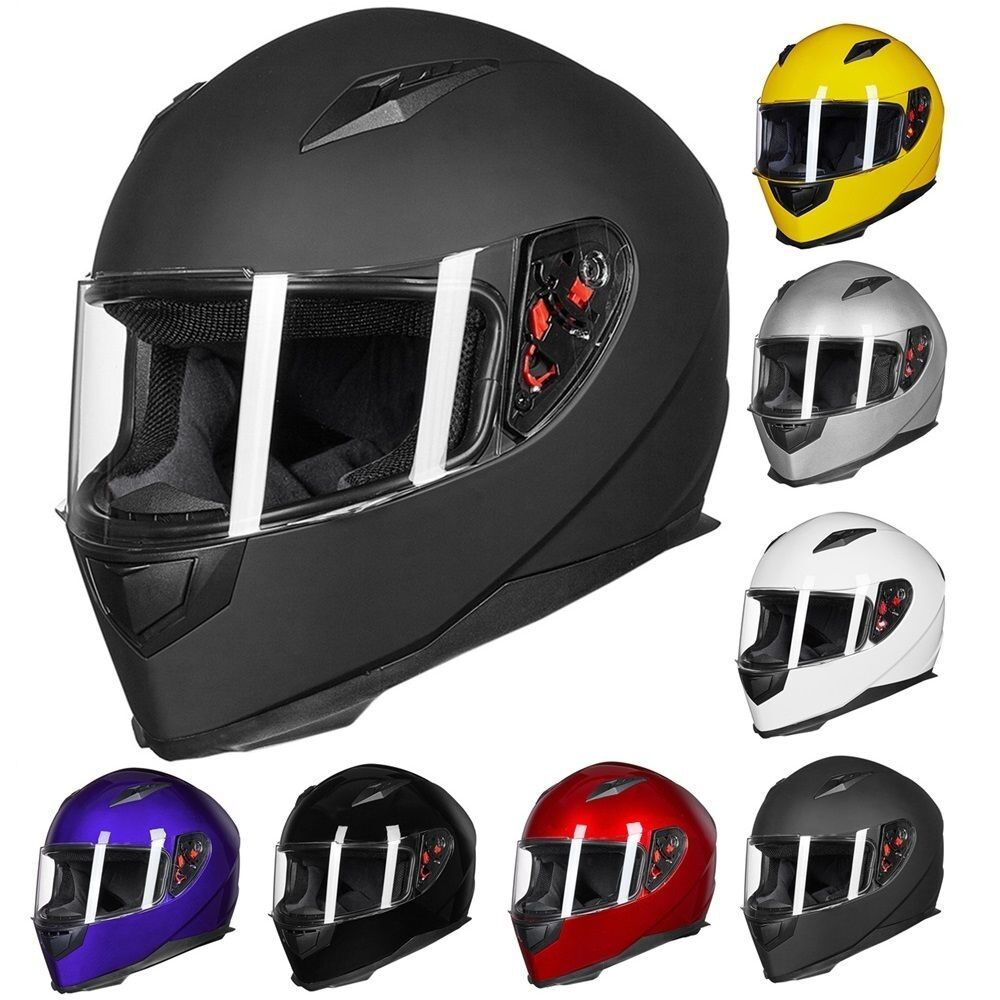 New ILM DOT Full Face Motorcycle Helmet + 2 Visors + Neck Scarf  7 Color Fashion Quick Release Helmet Matte Black Red M L XL браслеты vittorio richi браслеты