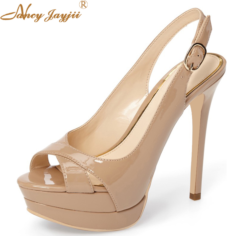 Classic Black Nude Red Bottom Brand Women Shoes Thin High