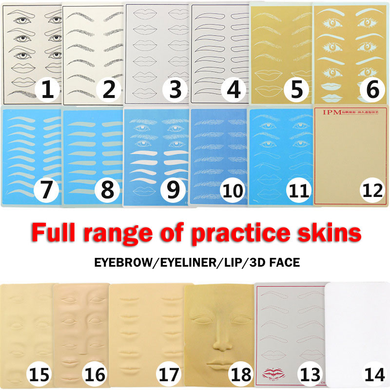 All Series Permanent Makeup Eyebrow Lips Beginner Training Skin Blank Tattoo Practice Skin Sheet 20 X 15cm