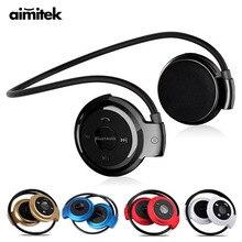 Mini 503 Sports Wireless Bluetooth Headphones Stereo Earphones MP3 Music Player Headset Earpiece Micro SD TF Card Slot HD Mic