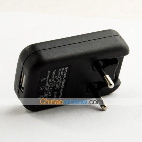 MP3 / MP4 LED USB EU Plug Power Supply