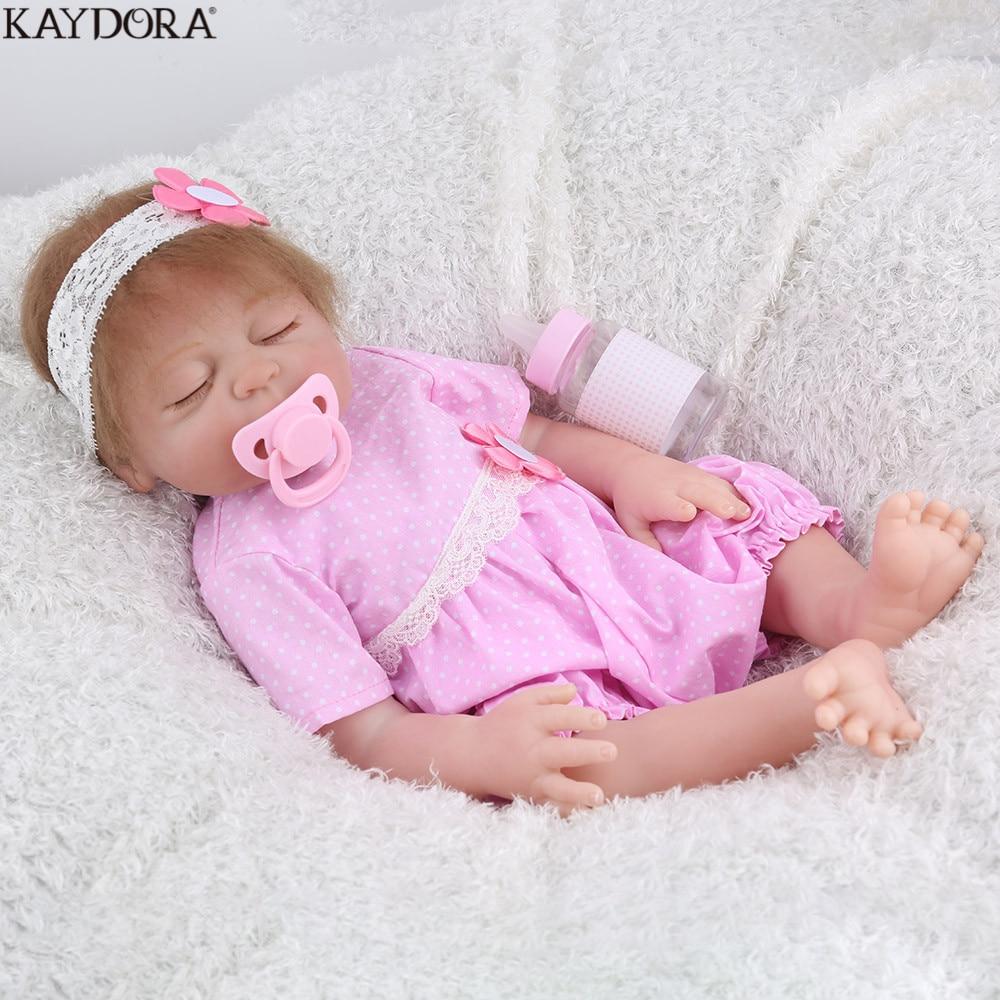 KAYDORA Reborn Baby Doll Full Body Silicone 17 Inch ...