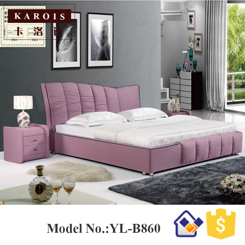 Pink Fabric Upholstered King Size Tufted Bed For Bedroom Furniture Special Headrest Designb860 Tufted Bed King Beds Sizebed King Size Aliexpress