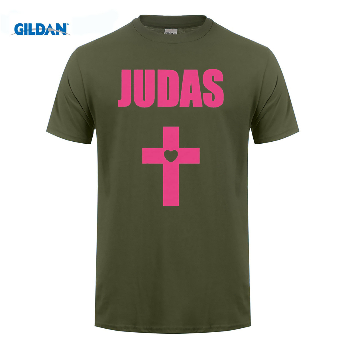 GILDAN cotton O-neck printing fashion T shirt Lady Gaga T Shirt Judas Cross Born This Way