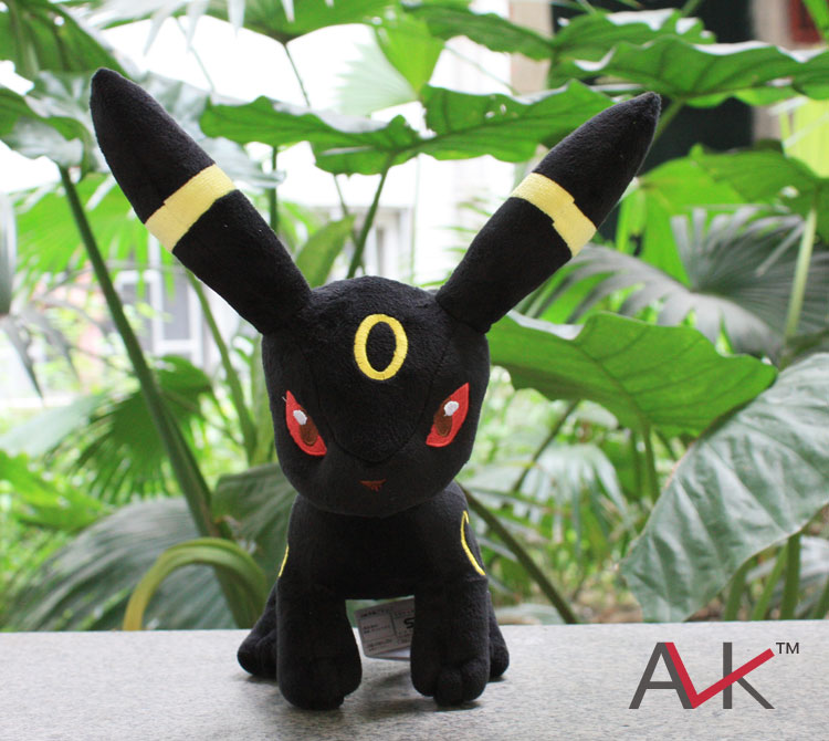 High Quality Umbreon Plush toy figures Toys Soft Stuffed Anime Cartoon Dolls kids Gift big size 31cm 12pcs set children kids toys gift mini figures toys little pet animal cat dog lps action figures