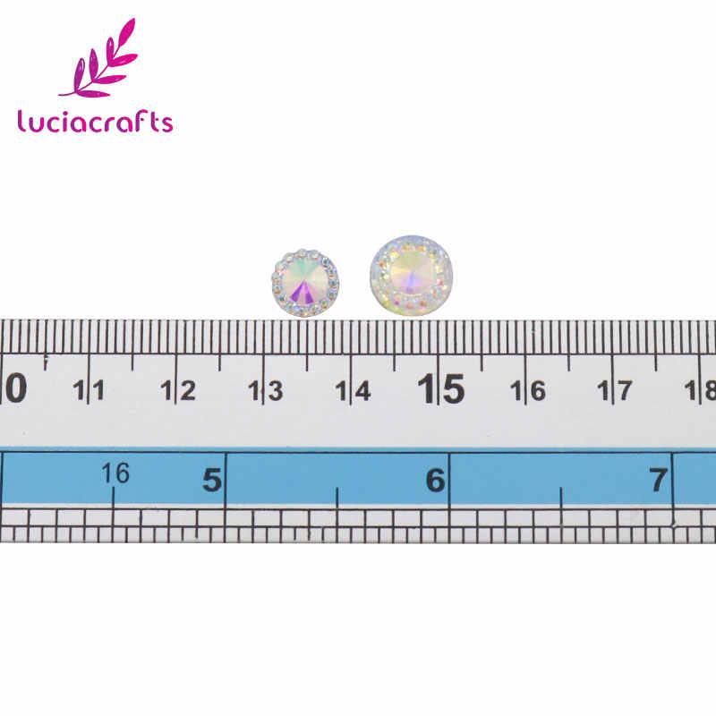 Lucia artigianato 48 pz/lotto 8mm/10mm per la selezione Colla-on AB di Strass Decorazione Dell'indumento D1108