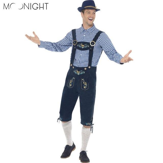 MOONIGHT Oktoberfest Costume Bavarian Octoberfest German Festival Beer Cospaly Halloween For Men