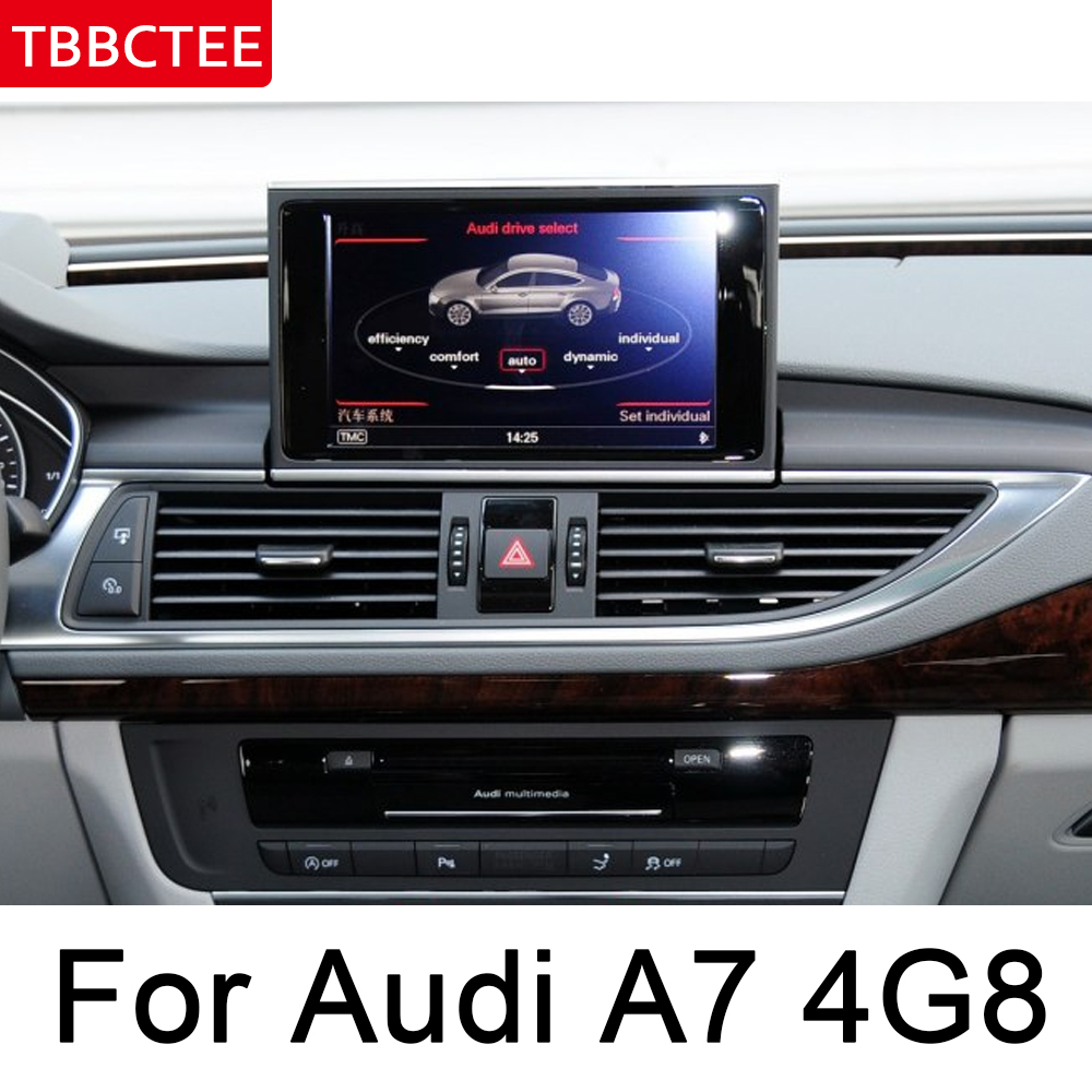 For Audi A7 S7 4G8 2016 2017 MMI Andrid Car Multimedia Player radio gps Navi Map WiFi original style Bletooth wifi system BT in Car Multimedia Player from Automobiles Motorcycles