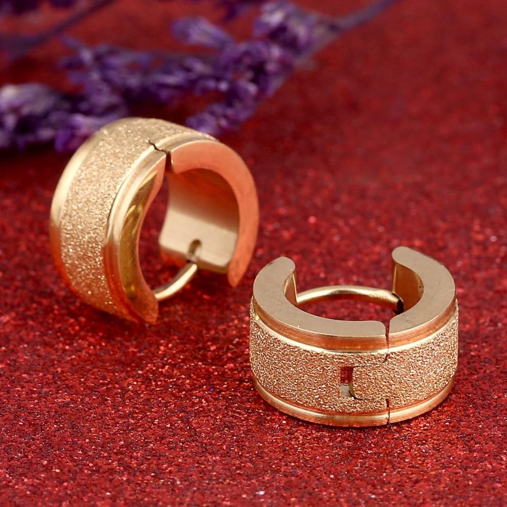 New Trendy Women Stud Earrings High Polished Stainless Steel Simple Cool Men Earrings