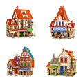 Creative 3D Wooden Puzzle Jigsaws of France Style House Wood 3D Mini DIY House Colorful Model Kits for Kids Educational Toys