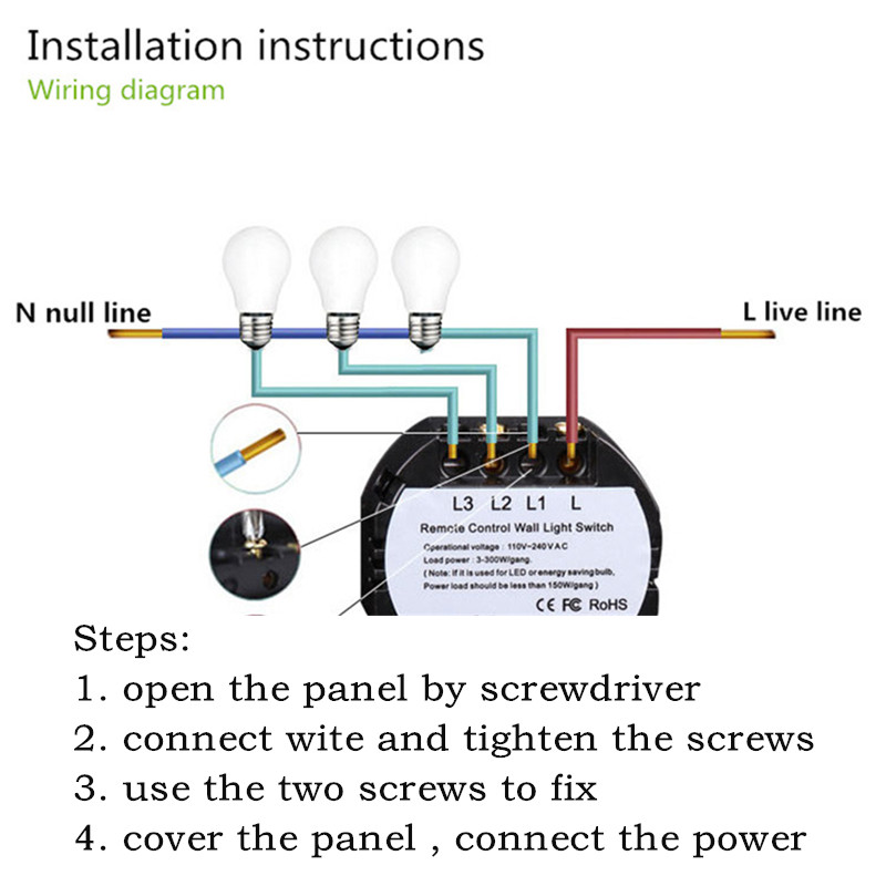 black crystal glass panel smart home touch switch ac170 240v led rh aliexpress com firewire 800 wiring diagram USB Pinout to IEEE 1394 4 Pin Pinout Diagram