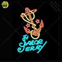 Татуировки моряк Джерри неоновая вывеска Лас Вегас лампы оздоровительный центр своими руками комнаты знаковых неоновый знак Art магазинная