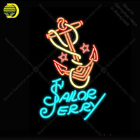 Tattoo Sailor Jerry Neon Sign Las vegas Bulb Handcrafted Recreation Room Iconic Sign light Neon Art Sign store display advertise
