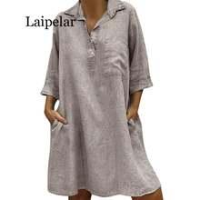 Женское платье с отложным воротником laipelar повседневное однотонное