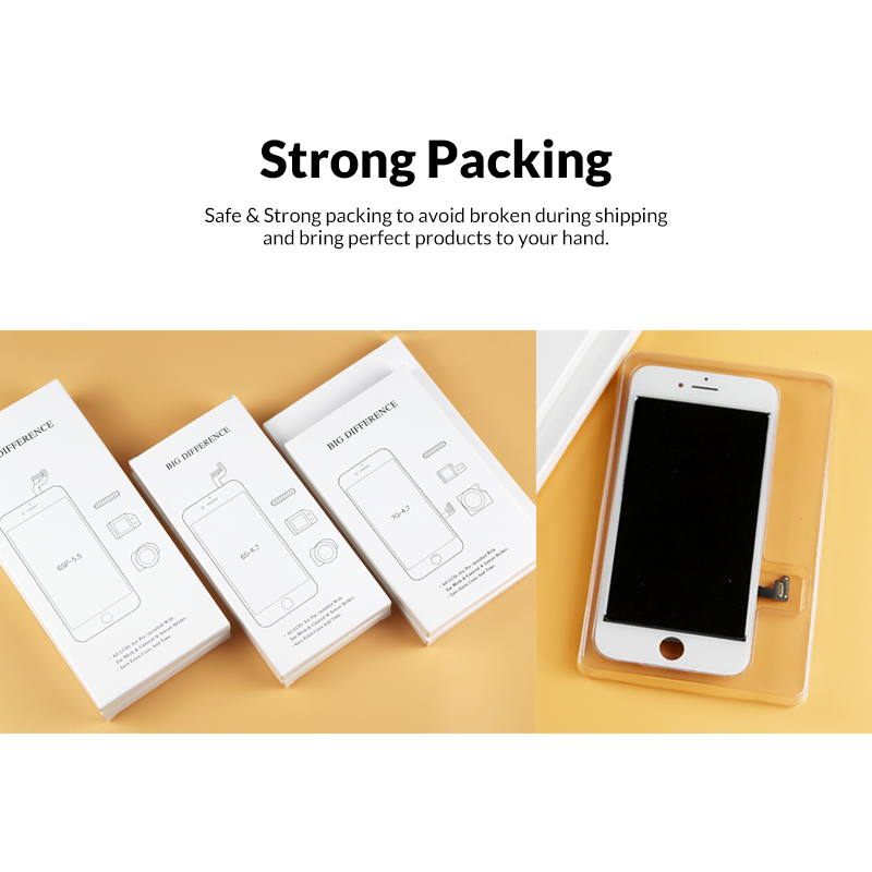 Image 4 - 5pcs 5.5 Tianma Black White Panel For iPhone 7 Plus LCD Screen With 3D Touch Digitizer Assembly For iPhone 7P / 7+ LCD Display-in Mobile Phone LCD Screens from Cellphones & Telecommunications