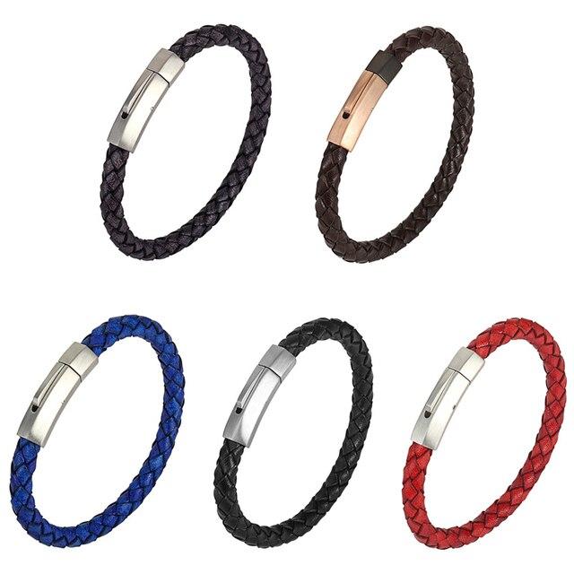 Фото модный браслет из нержавеющей стали в стиле ретро мужские браслеты