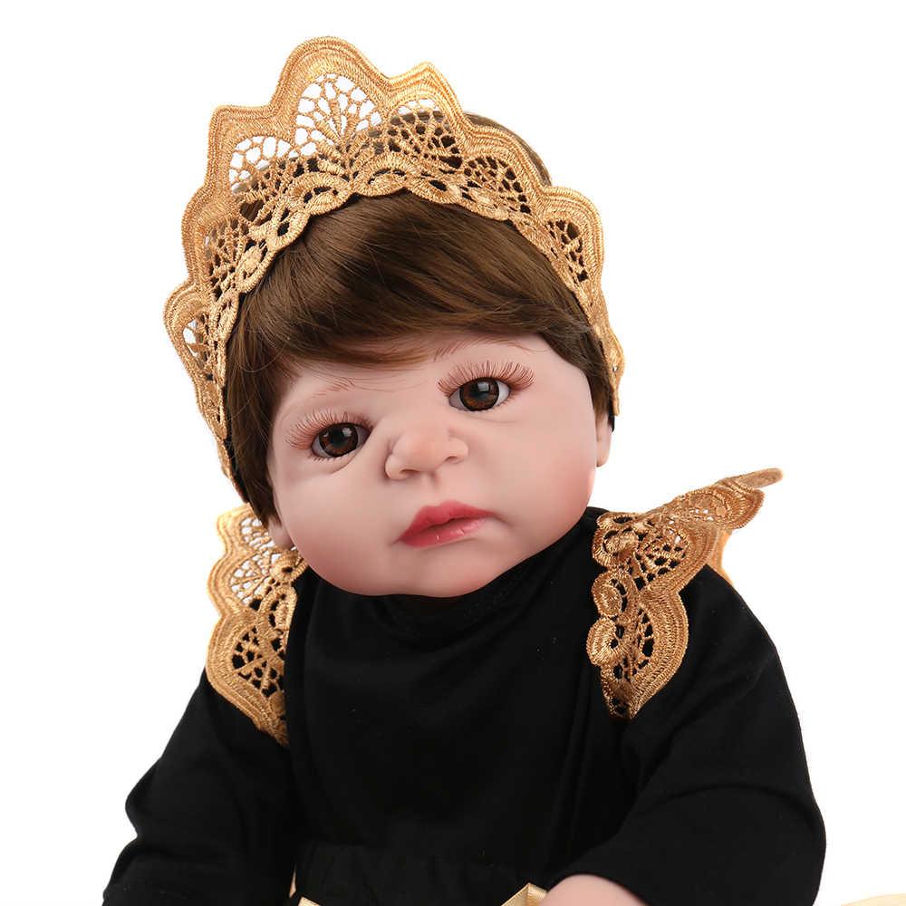 NPKDOLL Baby Reborn 55 см реалистичные Reborn bebes de силиконовые реалистичные детские Возрожденный силикон inteiro menina Детские куклы для девочек lol