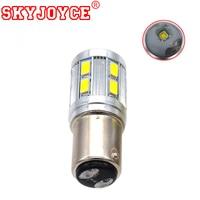 SKYJOYCE 10 50PCS LED 1156 BA15S Amber P21W LED BAY15D Red LED 1157 P21/5W R5W T20 Auto Lamp Bulbs Car LED Light turning Signals