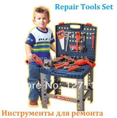 Herramienta de Juguetes Más Calientes Niños Juegos de Imaginación de Juguetes Conjunto de Herramientas de Reparación kit de herramientas caja de herramientas taladro Eléctrico Babri juguetes Juguetes de Los Niños