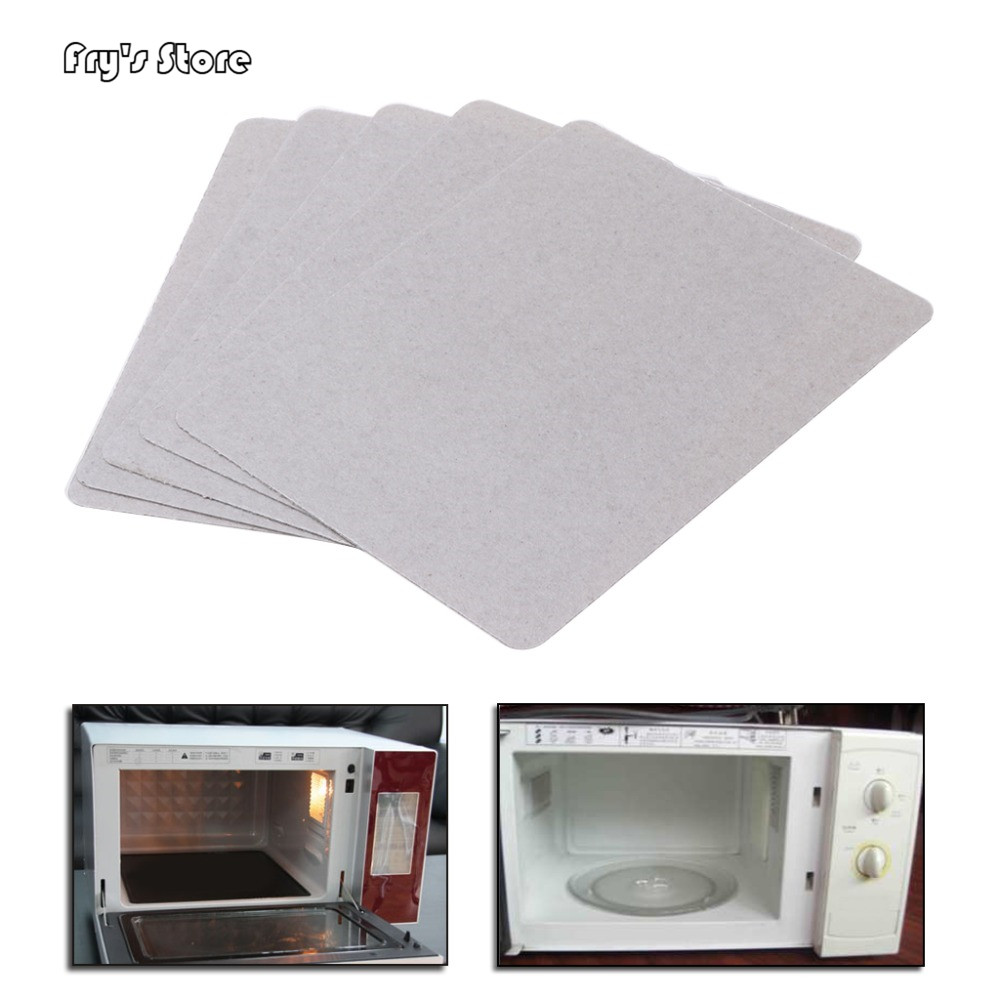 Fry's Store 5Pcs Mica Plate Sheets Microwave Oven Replace Part 120x150mm Universal For Midea
