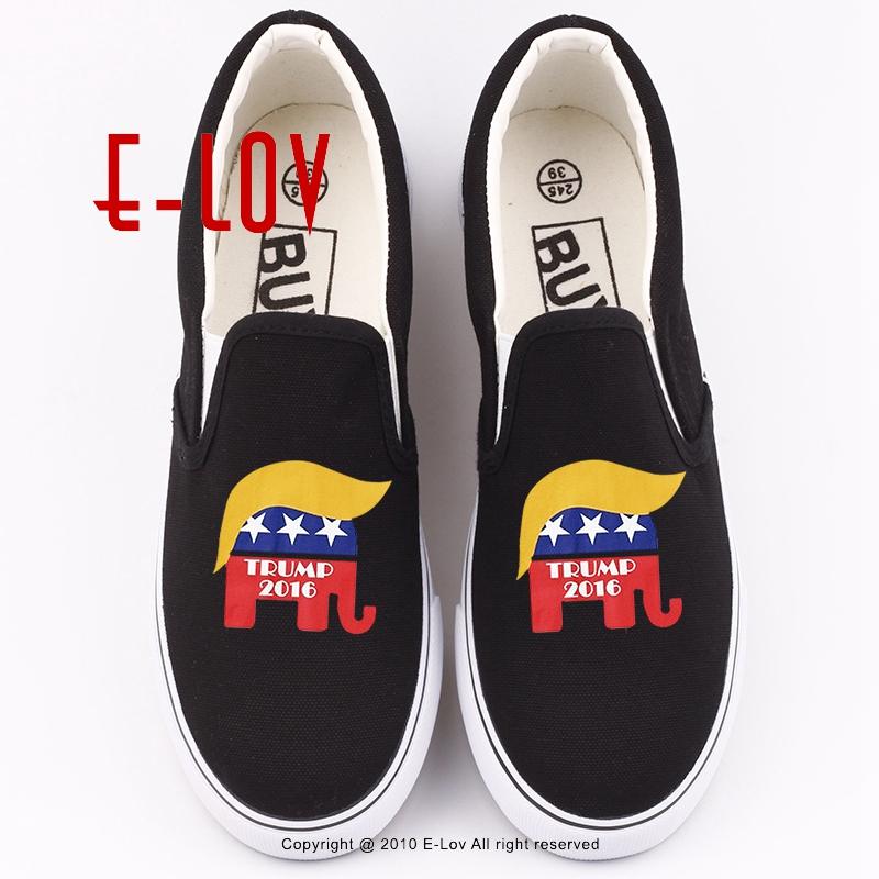 New Arrival Cartoon Design President Donald Trump Printed Loafers Shoes Women Girls Lazy Flat Shoe Plus Size Canvas Shoes new arrival hot 1 6 scale 45th president of the united states donald trump figures and clothing set