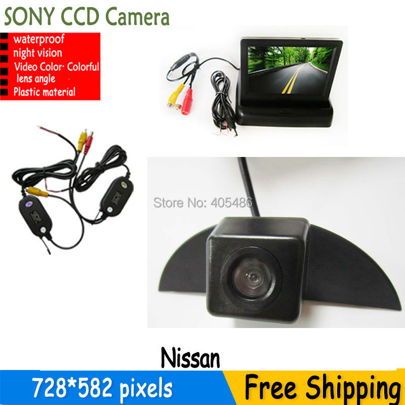 CAR Vehicle logo Front view font b camera b font monitor for Nissan X Trail Tiida