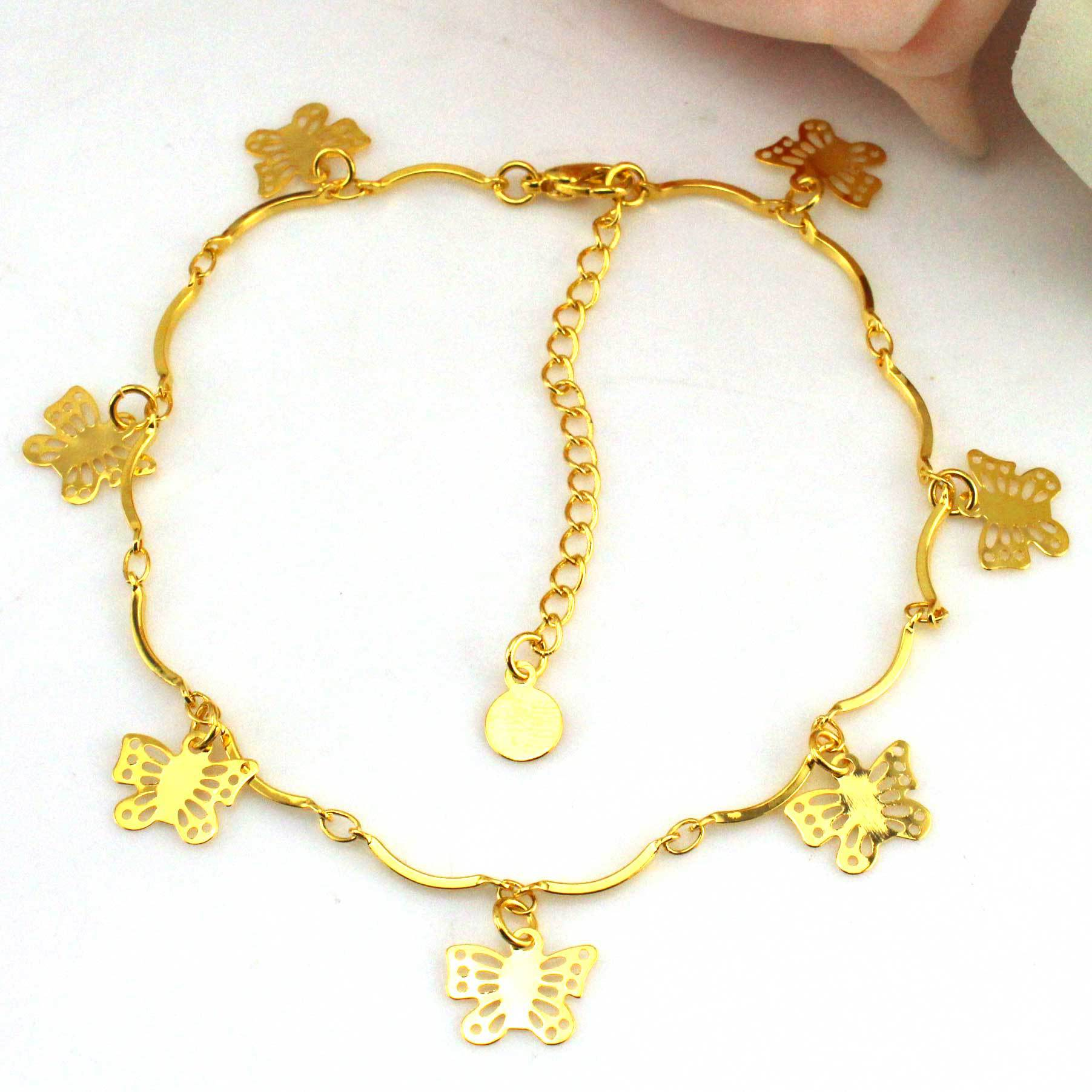 unique anklet corazon wrist products evil pulso pie corazones set de gold oro bracelet bracelets charms design foot and jewelry women with filled ankle heart