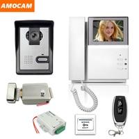 """4.3"""" LCD Video Door Phone Intercom Doorbell System Kit IR Camera Door bell Intercom Doorphone with Electric Lock Home Security Video Intercom     -"""