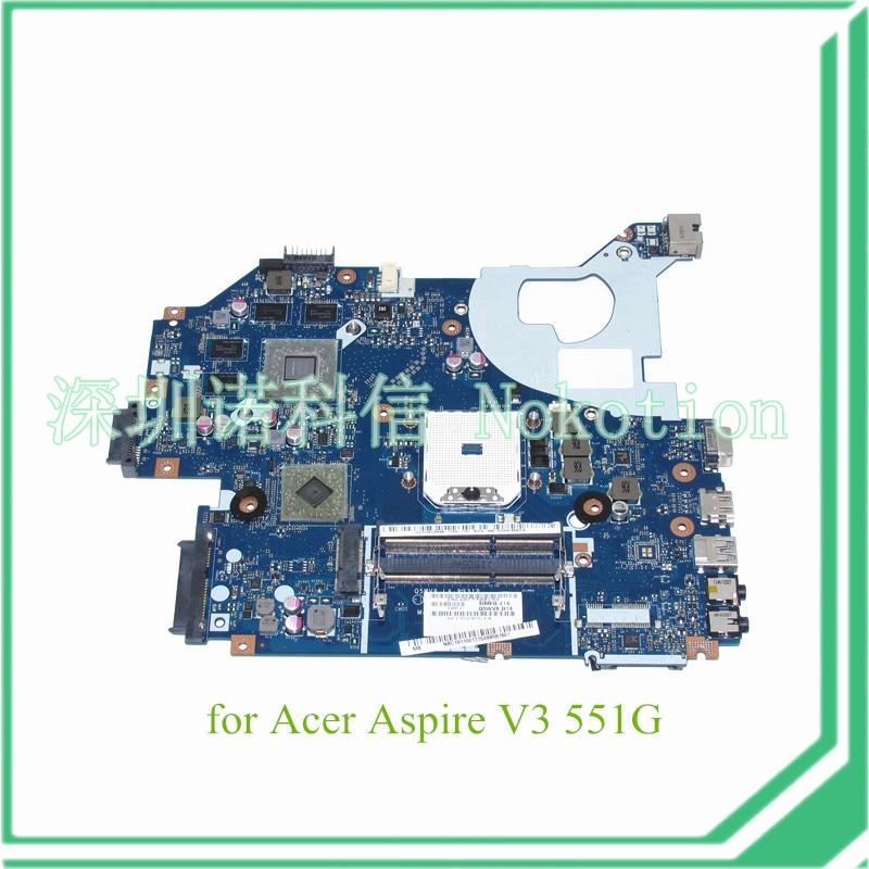 NOKOTION NBC1911001 NB C1911 001 For acer aspire V3 551G motherboard Q5WV8 LA 8331P DDR3 Radeon