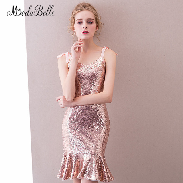 Sequin Cocktail Dress modabelle Sparkly Short Prom Dresses Vestidos A La Rodilla Knee Length Sequin  Cocktail Dresses Summer 2018 Evening Party