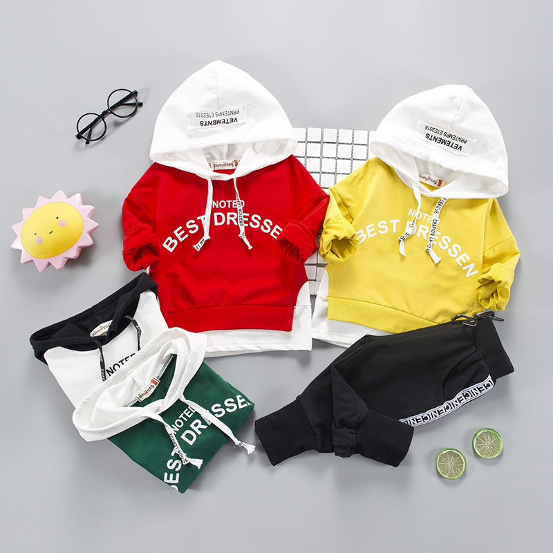 Autumn Childrens Wear Letter Hooded Sweater New Boys and Girls Childrens Suit Boys Clothes  Children Clothes  FashionAutumn Childrens Wear Letter Hooded Sweater New Boys and Girls Childrens Suit Boys Clothes  Children Clothes  Fashion