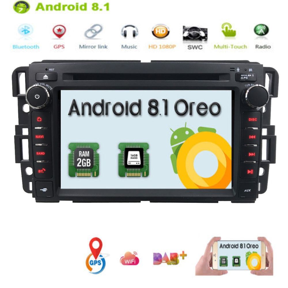 Android 8 1 Car Stereo Dvd Player For Gmc Chevy Silverado