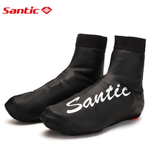 Santic Cycling Shoes Cover MTB Road Bike Bicycle Overshoes Winter Shoe Cover Windproof Cover Shoes Protector 5C09039H