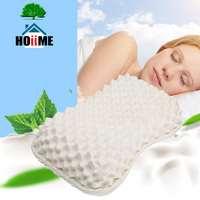 Massage Latex Bamboo Fiber Pillows Thailand Latex Bedding Bedroom Pillow Cervical Orthopedic Natural Foam Pillow Neck Health