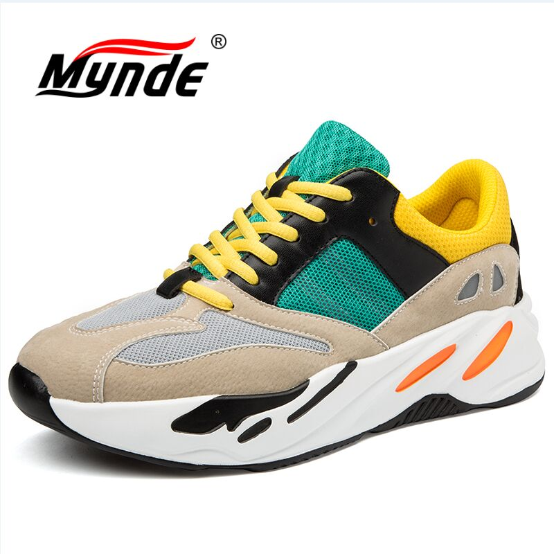 MYNDE Size 36-48 Men Women Running Shoes 2018 New Spring Autumn Outdoor Walking Shoes Breathable Mesh Men Sneakers Sport Shoes