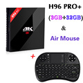3G/32G Amlogic S912 Gigabit H96 Pro + Octa Core Android 6.0 TV Box 2.4G/5.8G WiFi H.265 BT4.0 4 K reproductor multimedia inteligente