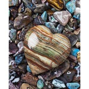 5d diy full square drill diamond painting embroidery Heart-shaped stone Diamond Cross Stitch Rhinestone decor YY