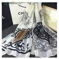 2016 новый летний 100% реального чистая шелковый шарф женщины шали классический дизайн модели бренда качество шарф écharpe foulards дам sjaal