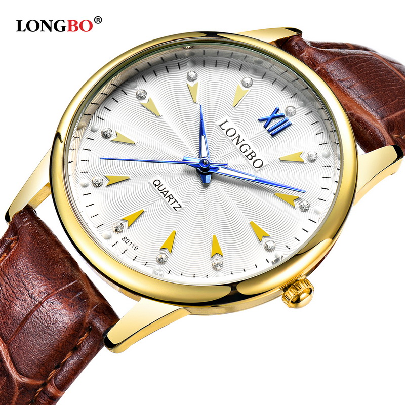 Best Seller 2017 New Product Design Women Watches LONGBO Luxury Brand Leather Stainless Steel Back Wist Watches Saat reloj 80119 best new product on sale 30