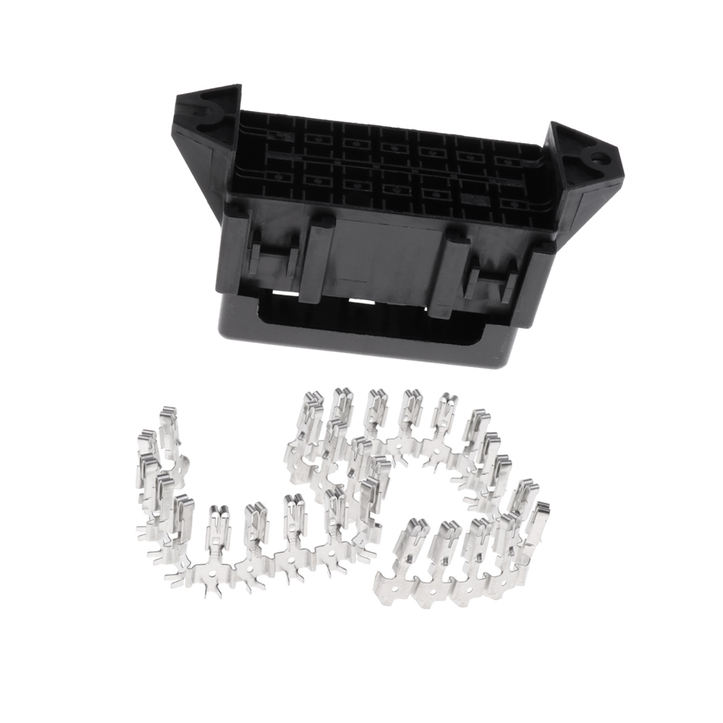 hight resolution of car motorcycle 14 way medium relay fuse box holder assembly with terminals